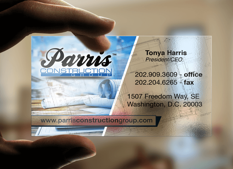 Transparent Plastic <br /></noscript>Business Card Design