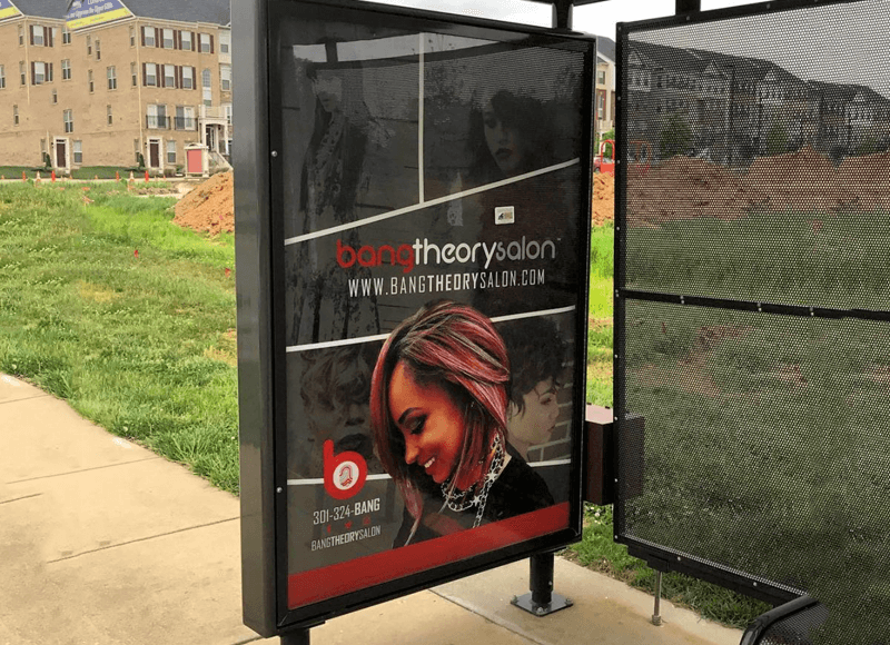 Bus Shelter Ad Design