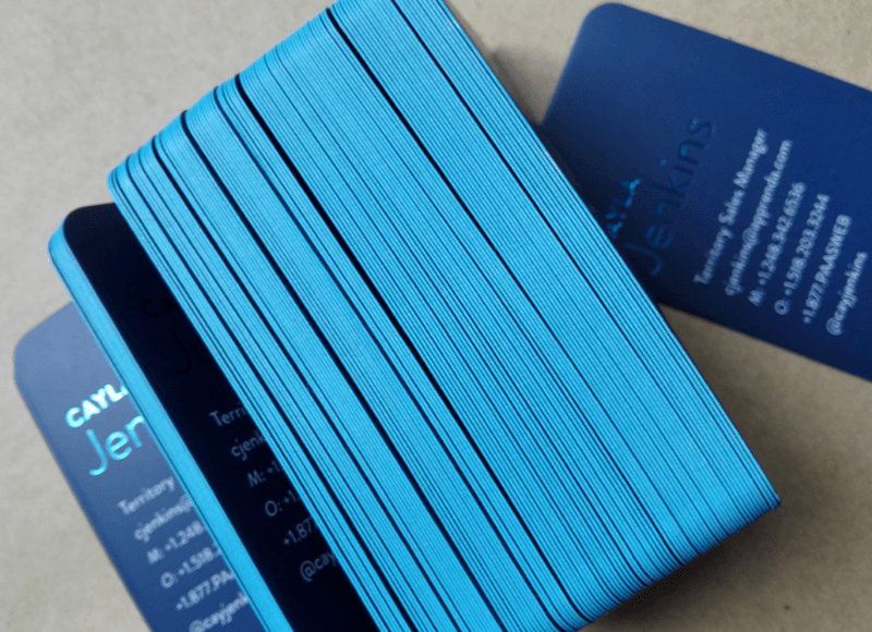 Business Cards w/ Colored Edges